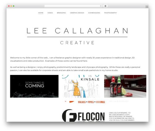 Pinhole WordPress theme image - leecallaghan.com