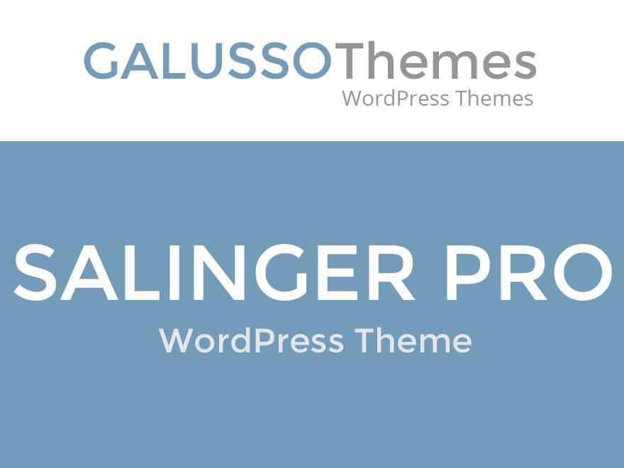 Salinger Pro WordPress blog theme