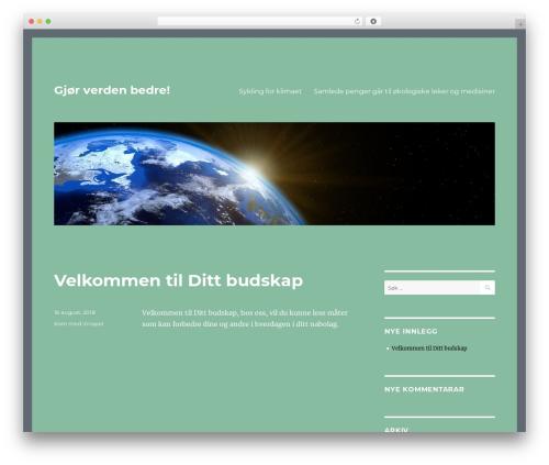 Twenty Sixteen WordPress template free download - dittbudskap.no