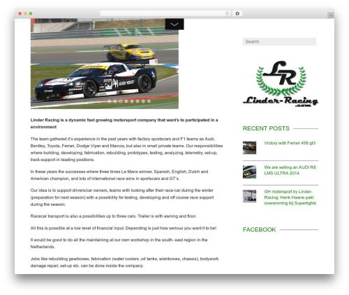 WordPress theme Themify Fullpane - linder-racing.com