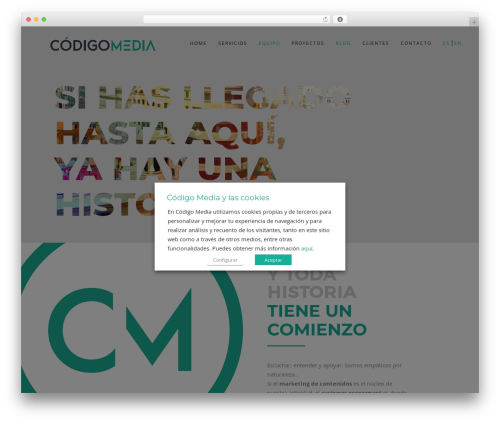 Wp Haswell top WordPress theme - codigomedia.es