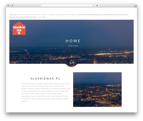 Narcos theme WordPress - slaskiena5.pl