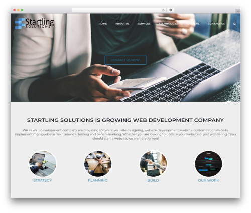 SiteOrigin Corp WordPress template free download - startlingsolutions.com