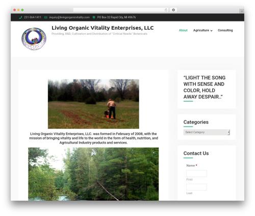 Template WordPress Corporate Club - livingorganicvitality.com