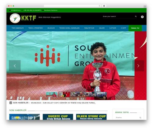 WordPress theme GoalKlub - kktf.org