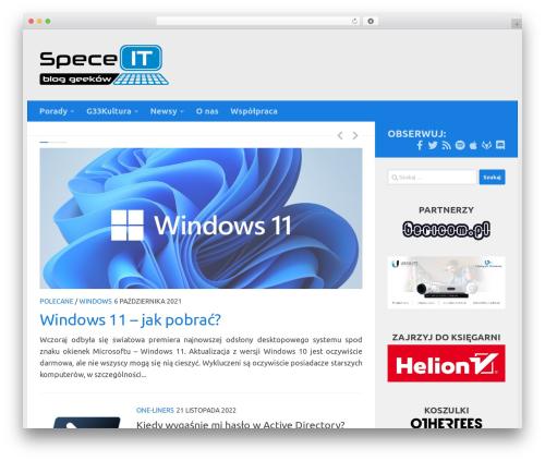 WordPress website template Hueman - spece.it
