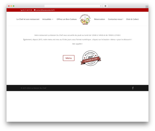 Divi WordPress theme - lamaisonduchef.fr