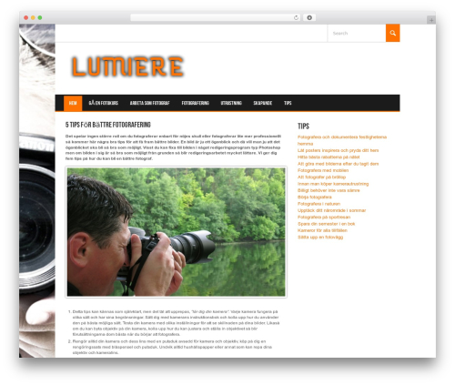 Koenda WordPress website template - lumiere.nu
