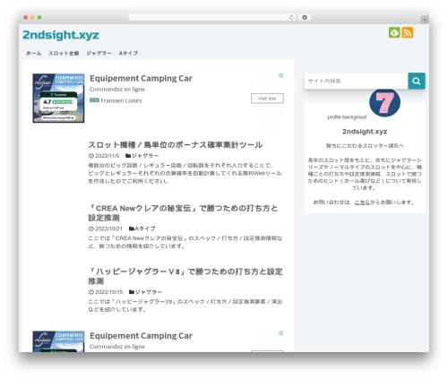 Simplicity2 WordPress theme - 2ndsight.xyz
