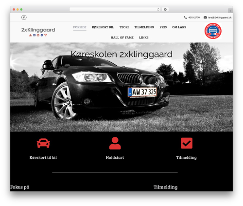 Theme WordPress The7 - 2xklinggaard.dk