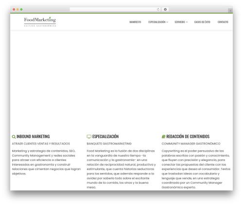 Total WordPress theme - food-marketing.es