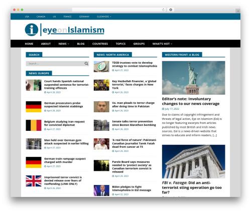 WordPress theme mh-child - eyeonislamism.com