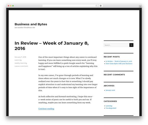 WordPress theme Twenty Sixteen - businessandbytes.xyz
