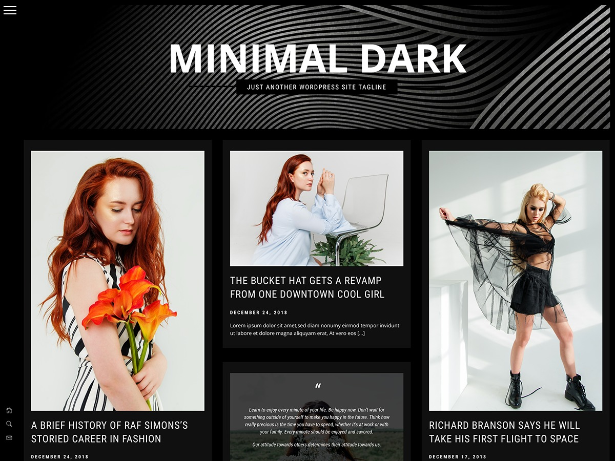 Minimal Dark best WordPress magazine theme