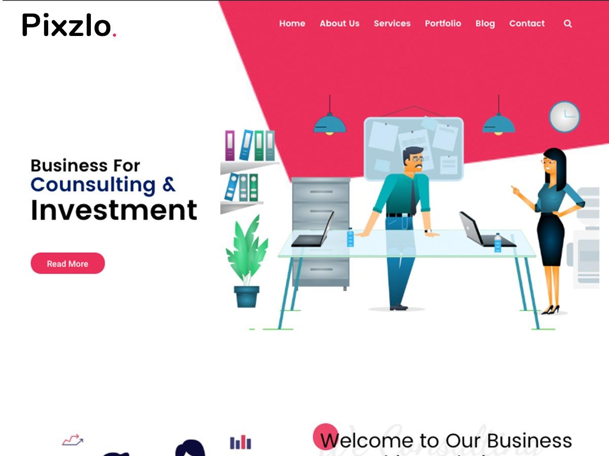 Pixzlo business WordPress theme