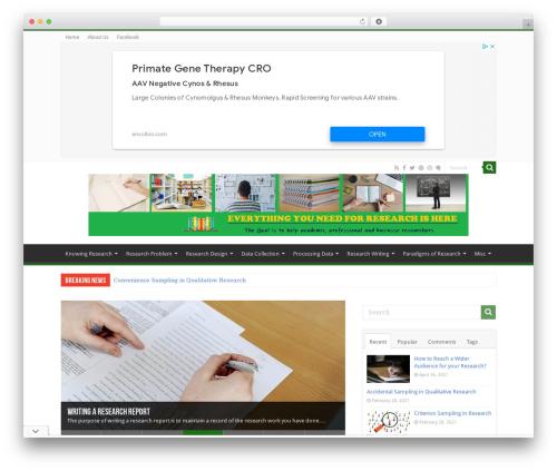 Sahifa best WordPress theme - researcharticles.com