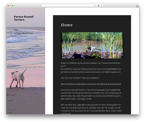 Twenty Fifteen best free WordPress theme - parsonrussellterriers.nl