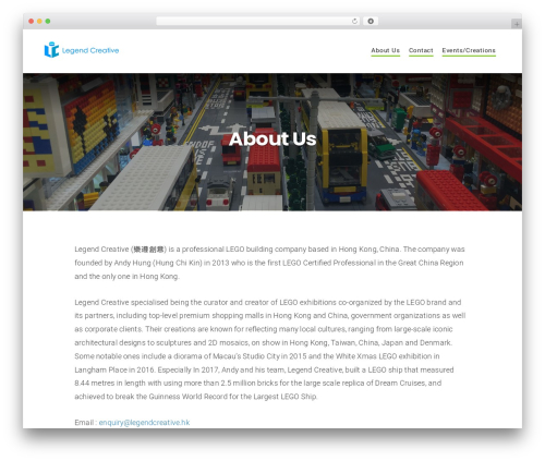 Businessx WordPress template free - legendcreative.hk