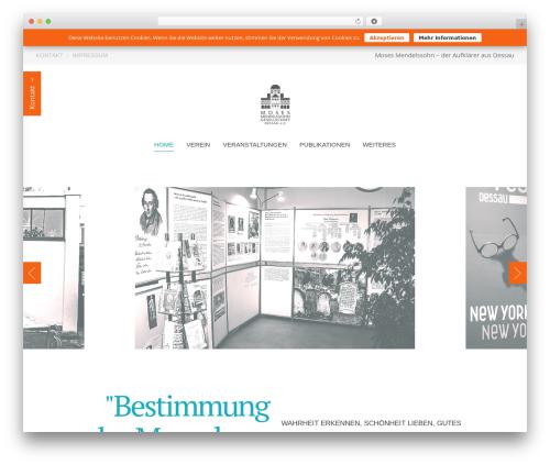 Chester WordPress theme - mendelssohn-dessau.de