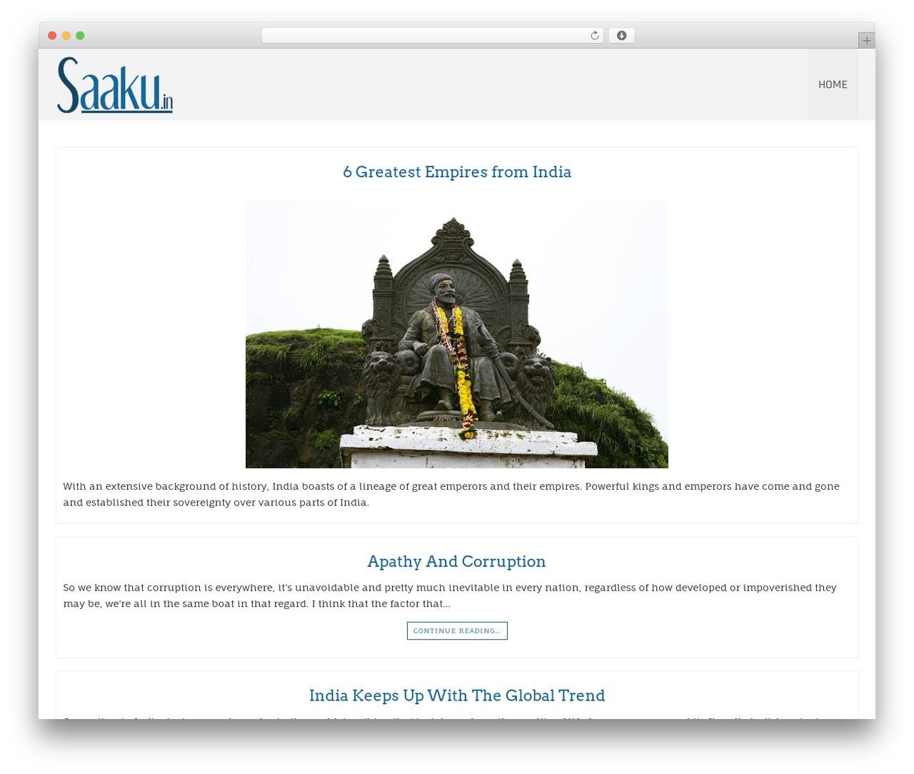 Di Responsive top WordPress theme - saaku.in