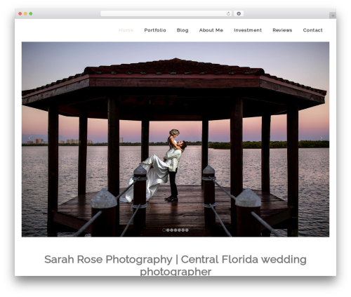 DPR Bruno premium WordPress theme - sarahrosephotos.com