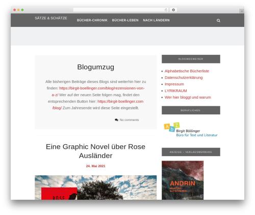 Heart and Style WordPress theme - saetzeundschaetze.com