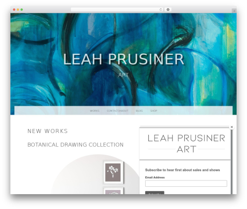 Snaps WordPress theme - leahprusiner.com