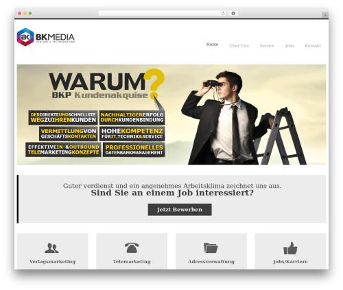 WP template YellowProject Multipurpose Retina WP Theme - bkmedia.center