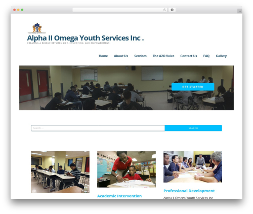 Ascension WordPress website template - a2oyouth.org