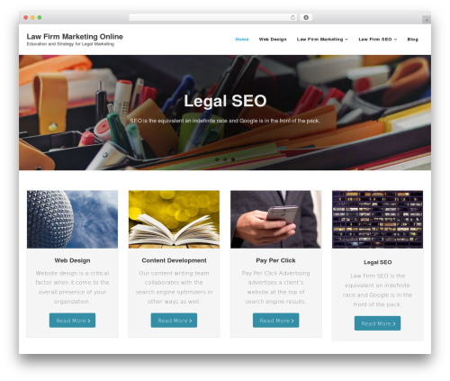 Shuttle company WordPress theme - legal-marketing-services.com
