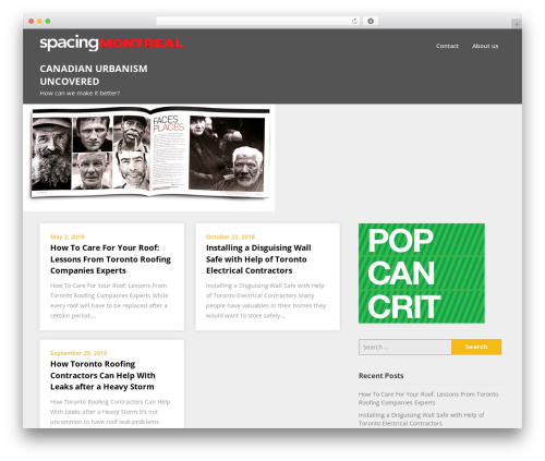 Superb Landingpage WP template - spacingmontreal.ca