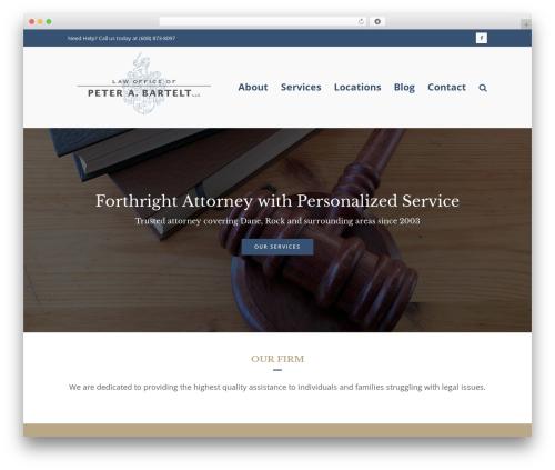 Total WordPress theme design - barteltlawoffice.com