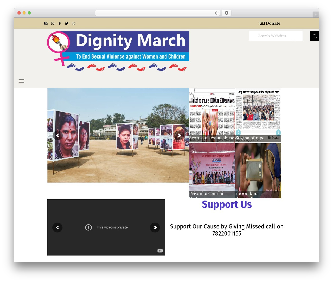 WordPress website template Betheme - dignitymarch.org