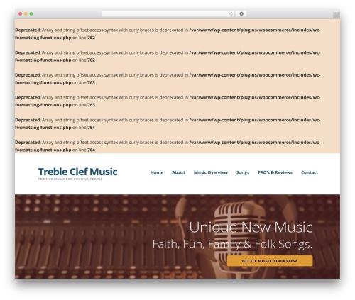 Ascension WordPress theme - trebleclefmusic.com