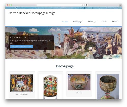 Best WordPress template BusiProf Pro - decoupage.dk