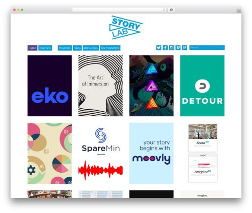 Best WordPress template Grid Theme Responsive - storylab.be