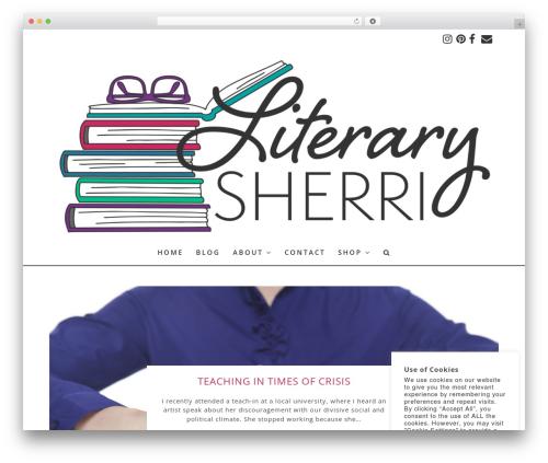 Best WordPress theme Angie Makes Child Theme - literarysherri.com