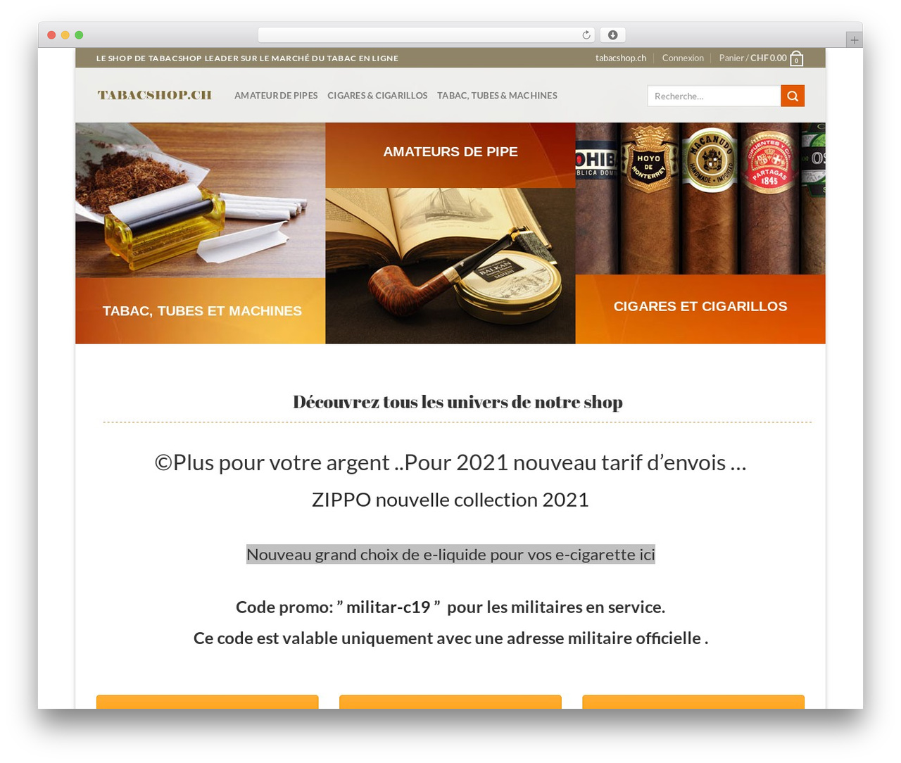 Flatsome WordPress shop theme - tabacshop.ch
