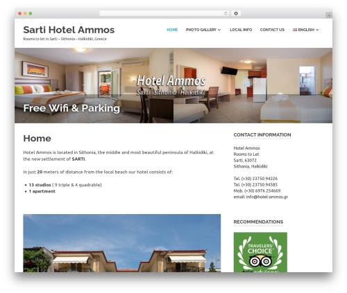 Poseidon best free WordPress theme - hotel-ammos.gr