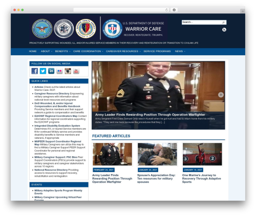 WordPress theme Arras - warriorcare.dodlive.mil