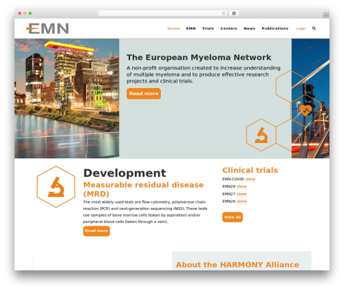 Bridge theme WordPress - myeloma-europe.org