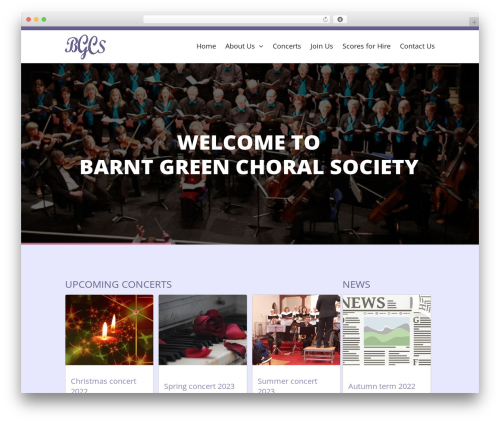 WordPress theme Eden - barntgreenchoralsociety.org