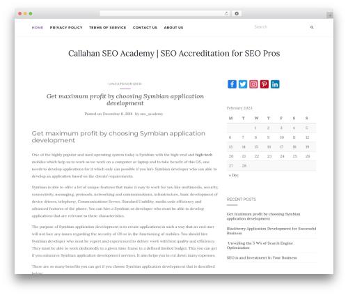 Activello free WP theme - callahan-academy.com