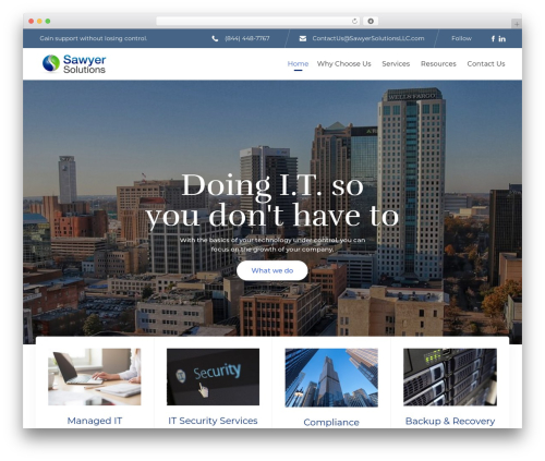 (VamTam) Consulting WordPress template for business - sawyersolutionsllc.com
