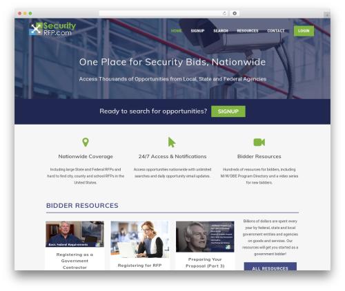 WordPress template Bridge - securityrfp.com