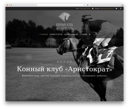 HorseClub WordPress page template - horse55.ru