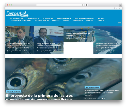 Hub Magazine WordPress theme - europa-azul.es