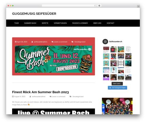 Nuptial theme WordPress - seifesueder.ch