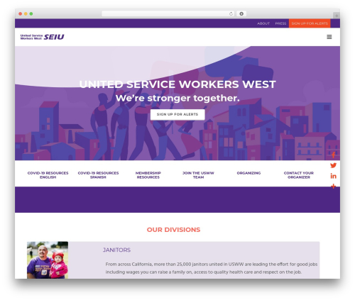 WordPress theme Jupiter - seiu-usww.org