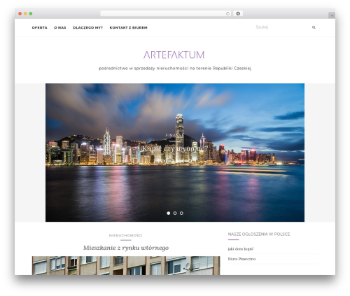 Activello template WordPress free - artefaktum.cz
